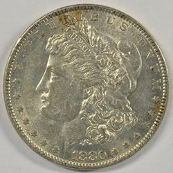 Fully struck 1880-O Morgan Silver Dollar. Lustrous