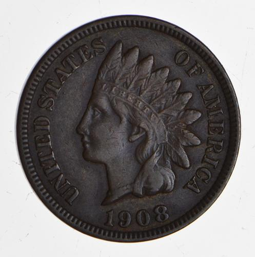1908-S Indian Head Cent - Circulated