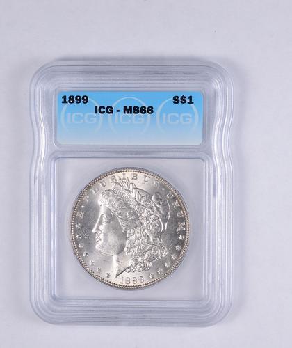 MS66 1899 Morgan Silver Dollar - Graded ICG
