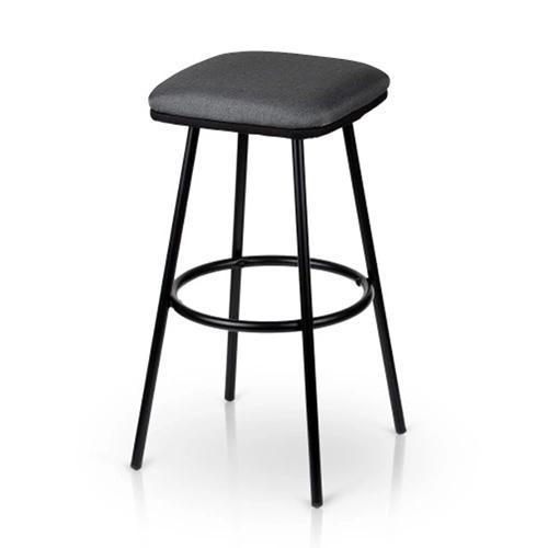 2PCS/Set of 2 Modern Metal Bar Stools with Footrest