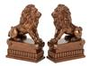 Polystone Lion Bookend Pair Unique Table And Shelf decor With Utility