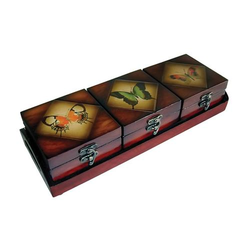 Cheungs Wooden triple box set - butterfly