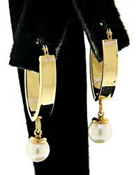 Nice Pearl Dangle Earrings
