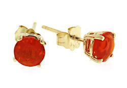 14kt Mexican Fire Opal Earrings