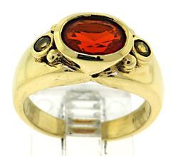 18kt Fire Opal Ring