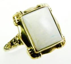 Vintage 10K Ring with Large Opal