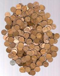500 Assorted Circulated Wheat Back Cents 40's and 50's