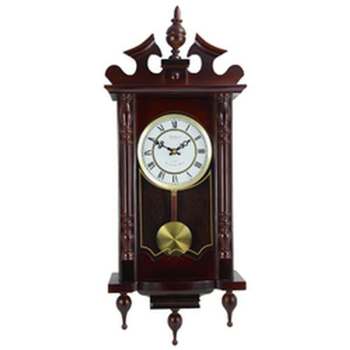 Chiming Wall Clock in a Cherry Oak Finish