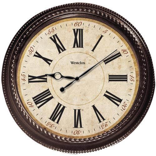 Westclox 20in Marbled Case Finish Clock