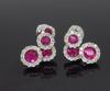 Movable Ruby and Diamond Dangle Earrings