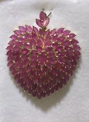 18+ CTW Ruby Pendant in 14kt Gold!