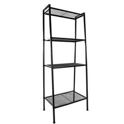 4-Tier Iron Leaning Ladder Bookshelf Storage Shelves