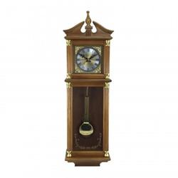 34.5in Antique Chiming Wall Clock with Roman Numerals