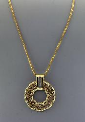 14kt Byzantine Circle Pendant