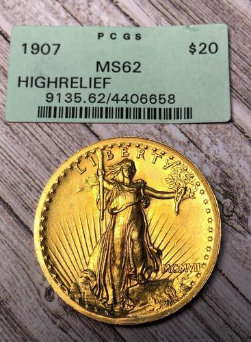1907 HIGH RELIEF-Saint Gaudens