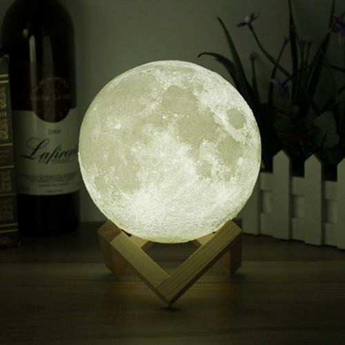 4.72in Touch Sensor 3D Printing Moon Lamp USB LED Lamp