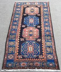 Very Unique 1950s Authentic Handmade Armenian Weave Vintage Shirvan