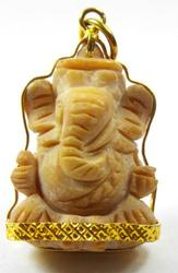 GANESH (Ganesha) Hand Carved Pendant/Amulet STATUE