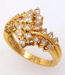 Beautiful Diamond Cluster Ring, Size 6.5