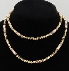 Fancy 22kt Solid Gold Necklace, 24 inches!