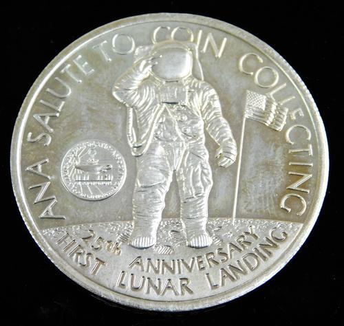 25th Anniversary 1st Lunar Landing 5 Crowns Coin