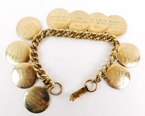 Vintage 10 Commandments Bracelet