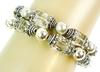 2 Sterling Crystal Bead Bracelets