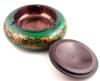 Green Finish Wooden Brass Ashtray