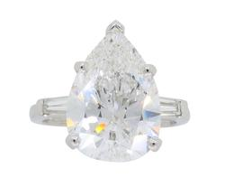 Certified 5.15CTW Pear Cut Diamond Ring