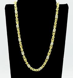 Ornate 18kt Yellow Gold Chain Necklace