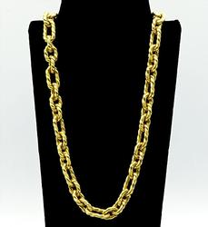 18KT Yellow Gold Italian Link Necklace