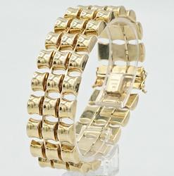 Beautiful 14kt Yellow Gold Bracelet, 43+ Grams