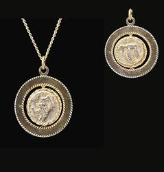 Hebrew Pendant and Chain in 10KT