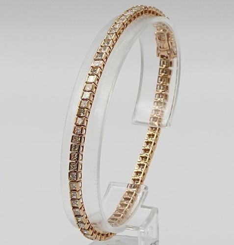 Classic 14kt Rose Gold Diamond Tennis Bracelet