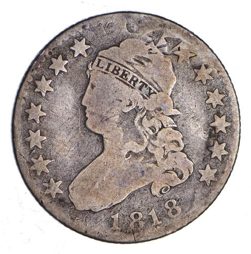 1818 Capped Bust Quarter - B9 - Circulated