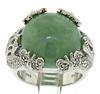 Green Jade and CZ Judith Ripka Ring