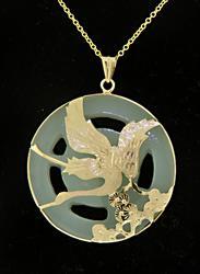 Cut Out Jade Pendant Necklace
