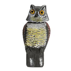 Artificial Resin Owl Rotating Head Outdoor Hunt Decoy