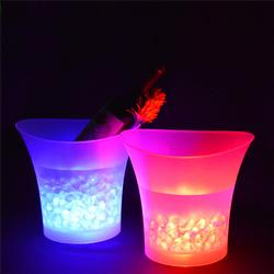 7 Colors LED Light Ice Bucket Drinks Cooler Party 5L