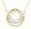 Sterling CZ Circle Necklace