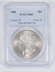 MS65 1903 Morgan Silver Dollar - PCGS Graded