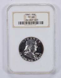 PF68 1961 Franklin Half Dollar - NGC Graded