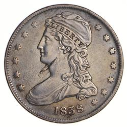1838 Capped Bust Half Dollar - Reeded Edge - Circulated