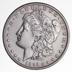 1893-S Morgan Silver Dollar - Rare - AU Details