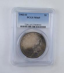 MS65 1903-O Morgan Silver Dollar - Amazing Tone - Graded PCGS
