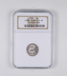 MS64 1838 Seated Liberty Dime - Large Stars - Graded NGC