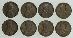 Lot (8) 1931-S Lincoln Wheat Cents