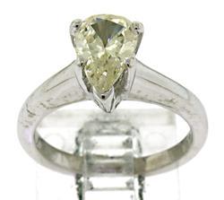Pear Diamond Solatire Ring