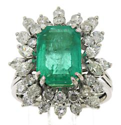 Eye Catching Emerald and Diamond Ring