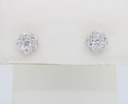 18K White Gold .48CTW Diamond Earrings